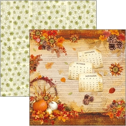Ciao Bella - The Sound of Autumn Collection - The Sound of Autumn 12x12 Cardstock