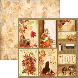 Ciao Bella - The Sound of Autumn Collection - Autumn Cards 12x12 Cardstock