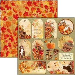 Ciao Bella - The Sound of Autumn Collection - Autumn Tags 12x12 Cardstock