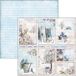 Ciao Bella - Time For Home Collection - Winter Cards 12x12 Cardstock