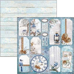 Ciao Bella - Time For Home Collection - Winter Tags 12x12 Cardstock