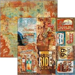 Ciao Bella - Collateral Rust Collection - Rusted Cards 12x12 Cardstock