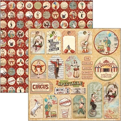 Ciao Bella - Greatest Show Collection - Circus Tags 12x12 Cardstock