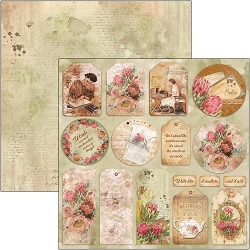 Ciao Bella - The Muse Collection - Tags 12x12 Cardstock