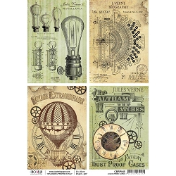 Ciao Bella - Voyages Extraordinaires collection - Jules Verne Cards Piuma Rice Paper