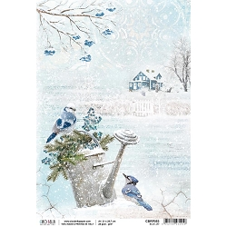 Ciao Bella - Time For Home Collection - Blue Jay Rice Paper