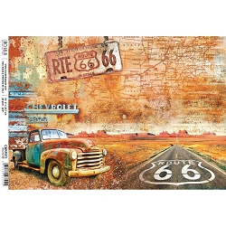 Ciao Bella - Collateral Rust Collection - Route 66 Piuma Rice Paper