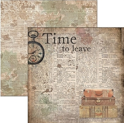 Ciao Bella - Ciao Bella Collection - 12x12 Cardstock - Time To Leave