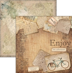 Ciao Bella - Ciao Bella Collection - 12x12 Cardstock - Enjoy The Adventure