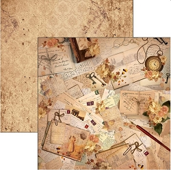 Ciao Bella - Autumn Whispers collection - 12x12 Cardstock - Unforgettable