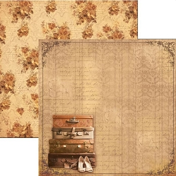 Ciao Bella - Autumn Whispers collection - 12x12 Cardstock - Sweet November
