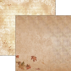 Ciao Bella - Autumn Whispers collection - 12x12 Cardstock - Autumn breeze