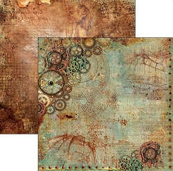 Ciao Bella - Codex Leonardo collection - 12x12 Cardstock - La meccanica del volo