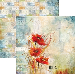 Ciao Bella - The Sound of Spring collection - 12x12 Cardstock - Poppies' dance