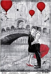 Ciao Bella - Loving In The Rain collection - Piuma Rice Paper - Love in Venice