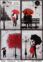 Ciao Bella - Loving In The Rain collection - Piuma Rice Paper - Love is an umbrella
