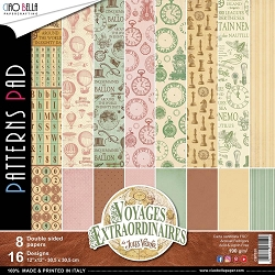 Ciao Bella - Voyages Extraordinaires Collection - Coordinating Patterns Paper Kit