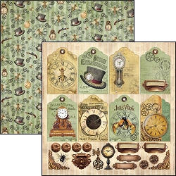 Ciao Bella - Voyages Extraordinaires Collection - Tags & Deco 12x12 Cardstock
