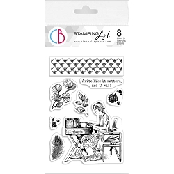 Ciao Bella - Write Like It Matters Clear Stamp Set