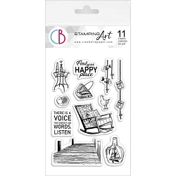 Ciao Bella - Find Your Happy Place Clear Stamp Set