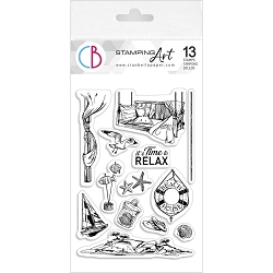 Ciao Bella - It's Time To Relax Clear Stamp Set