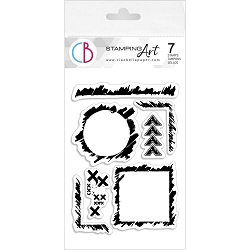 Ciao Bella - Grunge Frames and Borders Clear Stamp Set