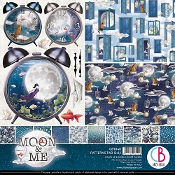 Ciao Bella - Moon & Me Collection - Coordinating Patterns Paper Kit