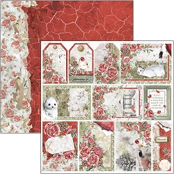 Ciao Bella - Frozen Roses Collection - Frames & Tags 12x12 Cardstock
