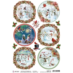 Ciao Bella - Northern Lights Collection - Medallions Piuma Rice Paper