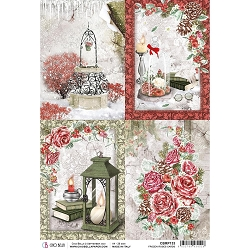 Ciao Bella - Frozen Roses Collection - Cards Piuma Rice Paper