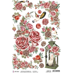 Ciao Bella - Frozen Roses Collection - Frozen Roses Piuma Rice Paper