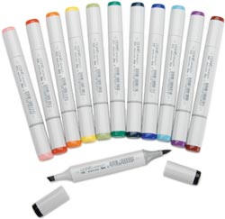 All Copic Sketch Markers listed in color code order