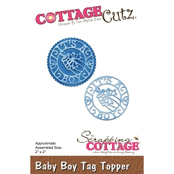 Cottage Cutz - Die - Baby Boy Tag Topper