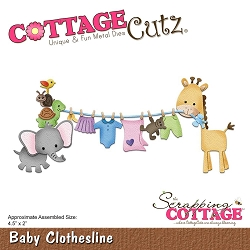 Cottage Cutz - Die - Baby Clothesline