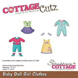 Cottage Cutz - Die - Baby Doll Girl Clothes