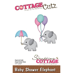Cottage Cutz - Die - Baby Shower Elephant