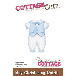 Cottage Cutz - Die - Boy Christening Outfit