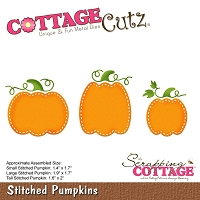Cottage Cutz - Die - Stitched Pumpkins