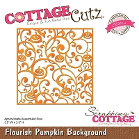 Cottage Cutz - Die - Flourish Pumpkin Background