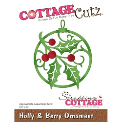 Cottage Cutz - Die - Holly & Berry Ornament