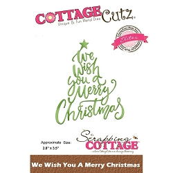 Cottage Cutz - Die - We Wish You A Merry Christmas (Elite)