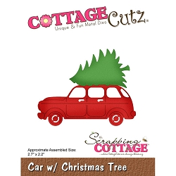 Cottage Cutz - Die - Car w/ Christmas Tree