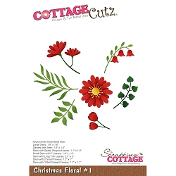 Cottage Cutz - Die - Christmas Floral 1