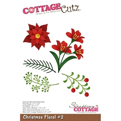 Cottage Cutz - Die - Christmas Floral 2