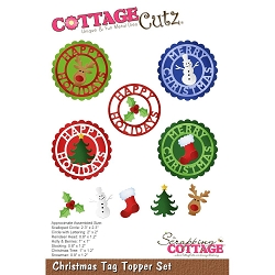 Cottage Cutz - Die - Christmas Tag Topper Set
