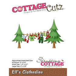 Cottage Cutz - Die - Elf's Clothesline