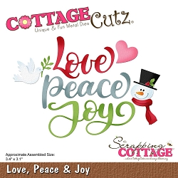 Cottage Cutz - Die - Love, Peace & Joy