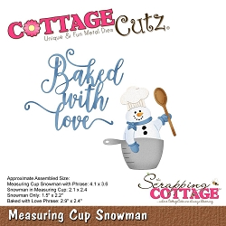 Cottage Cutz - Die - Measuring Cup Snowman