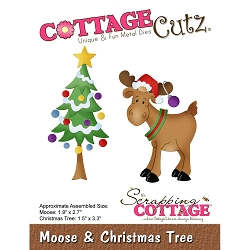 Cottage Cutz - Die - Moose & Christmas Tree