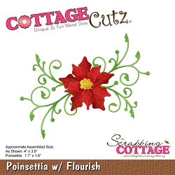 Cottage Cutz - Die - Poinsettia w/Flourish